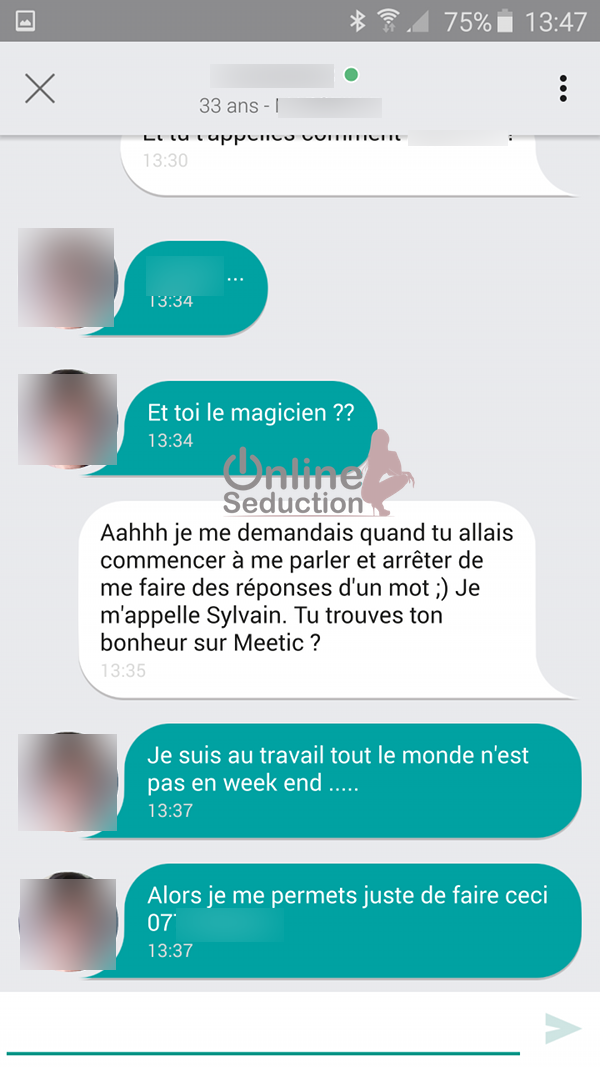Site de rencontre message type