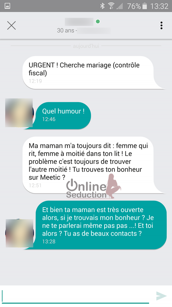 Message original site de rencontre
