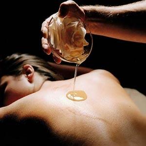 huile masser femme
