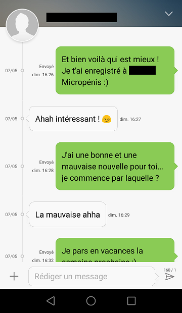 texto sms fille femme