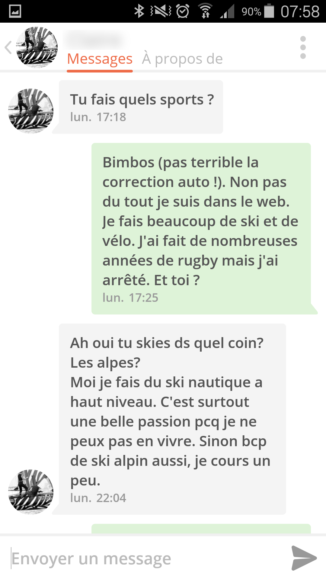 1er message site de rencontre exemple