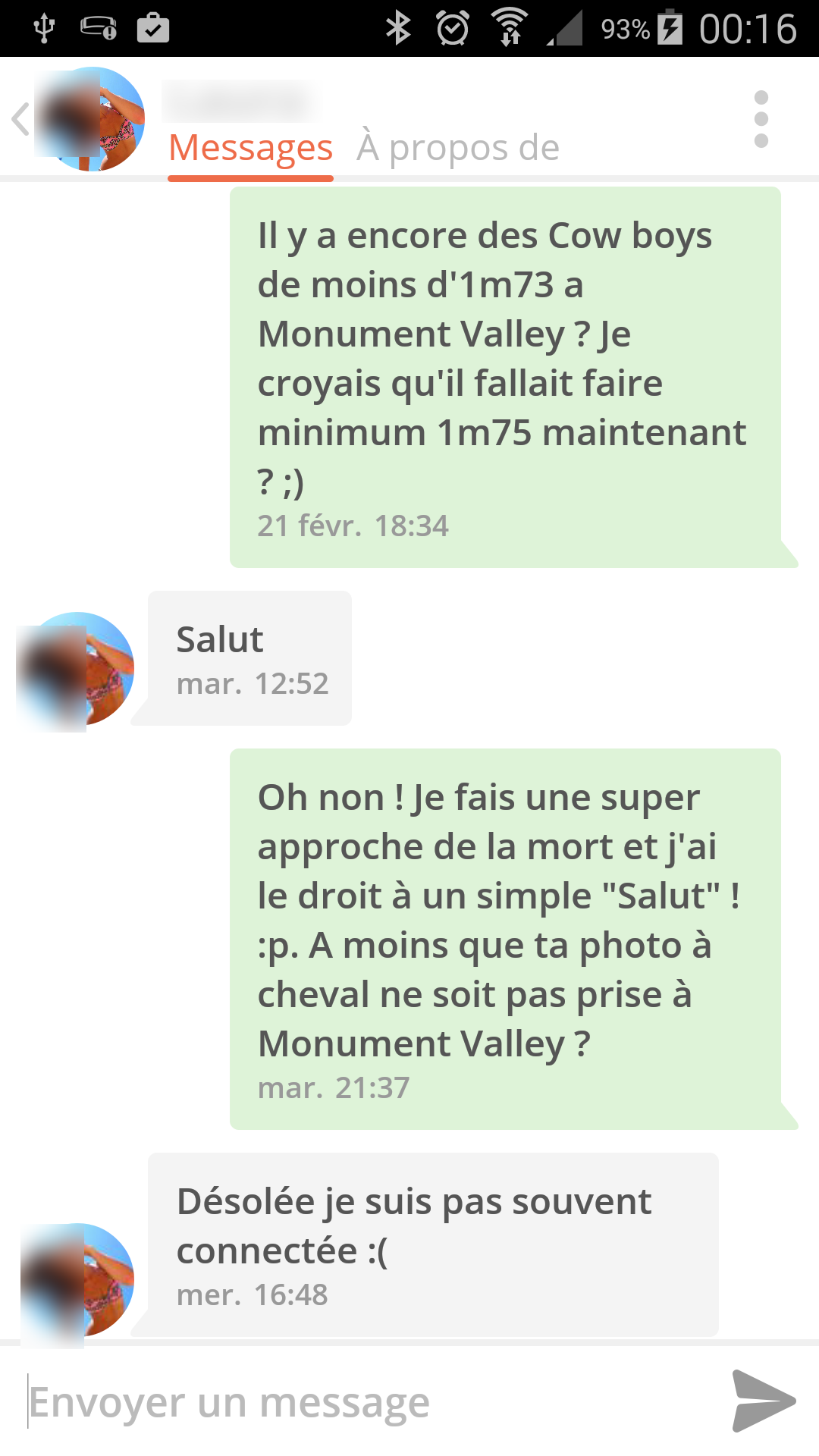 Premier message site de rencontre