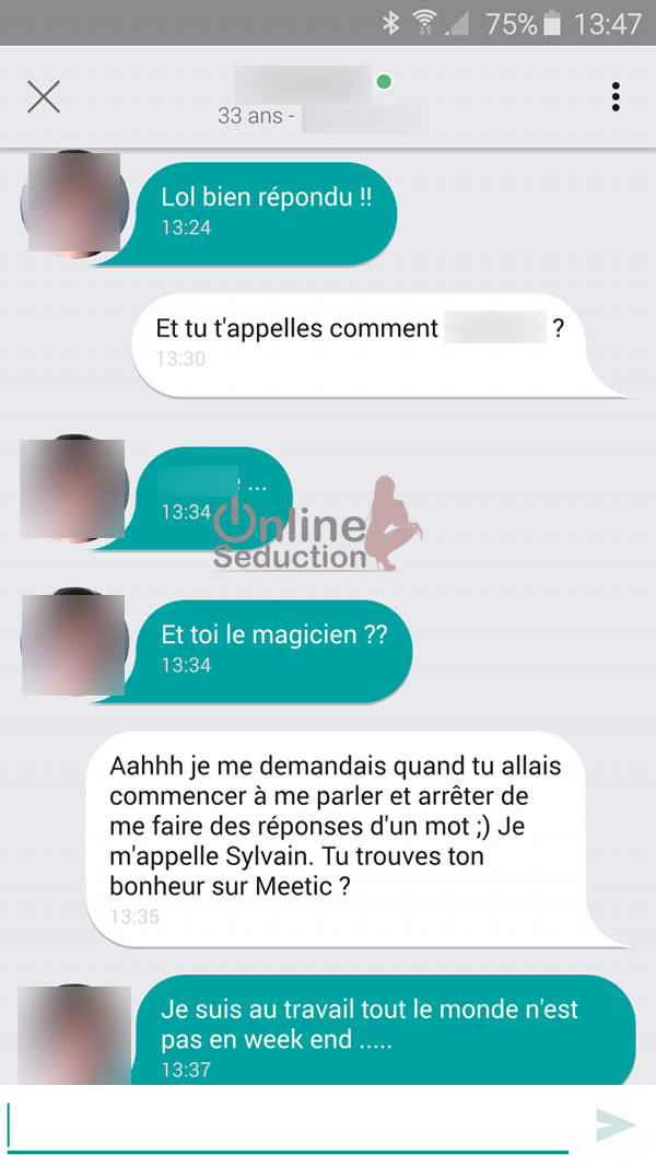 Exemple conversation site de rencontre une discussion ma tris e