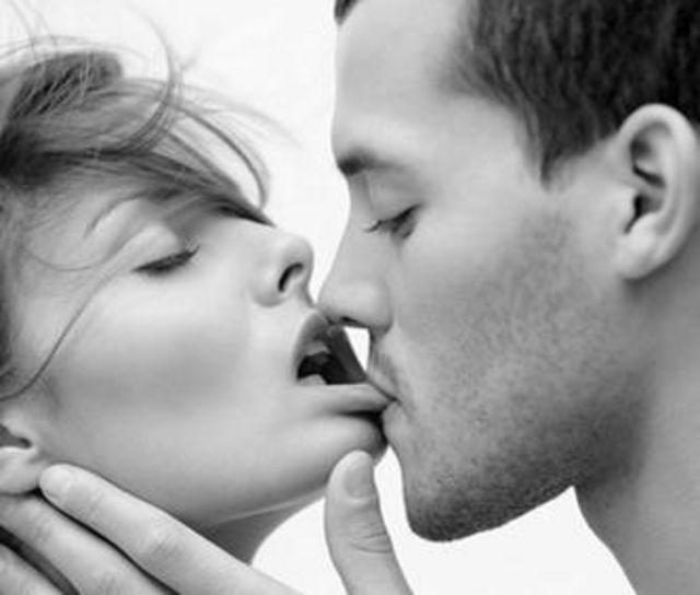 baiser sur une lèvre