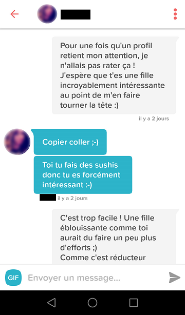 Exemple discussion site de rencontre