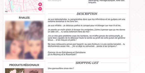 Rencontre site Web application mobile