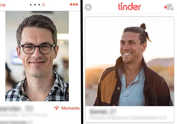 sourire sur Tinder