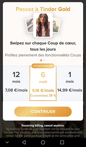 Tinder Gold & Plus avis : que vallent les versions premium
